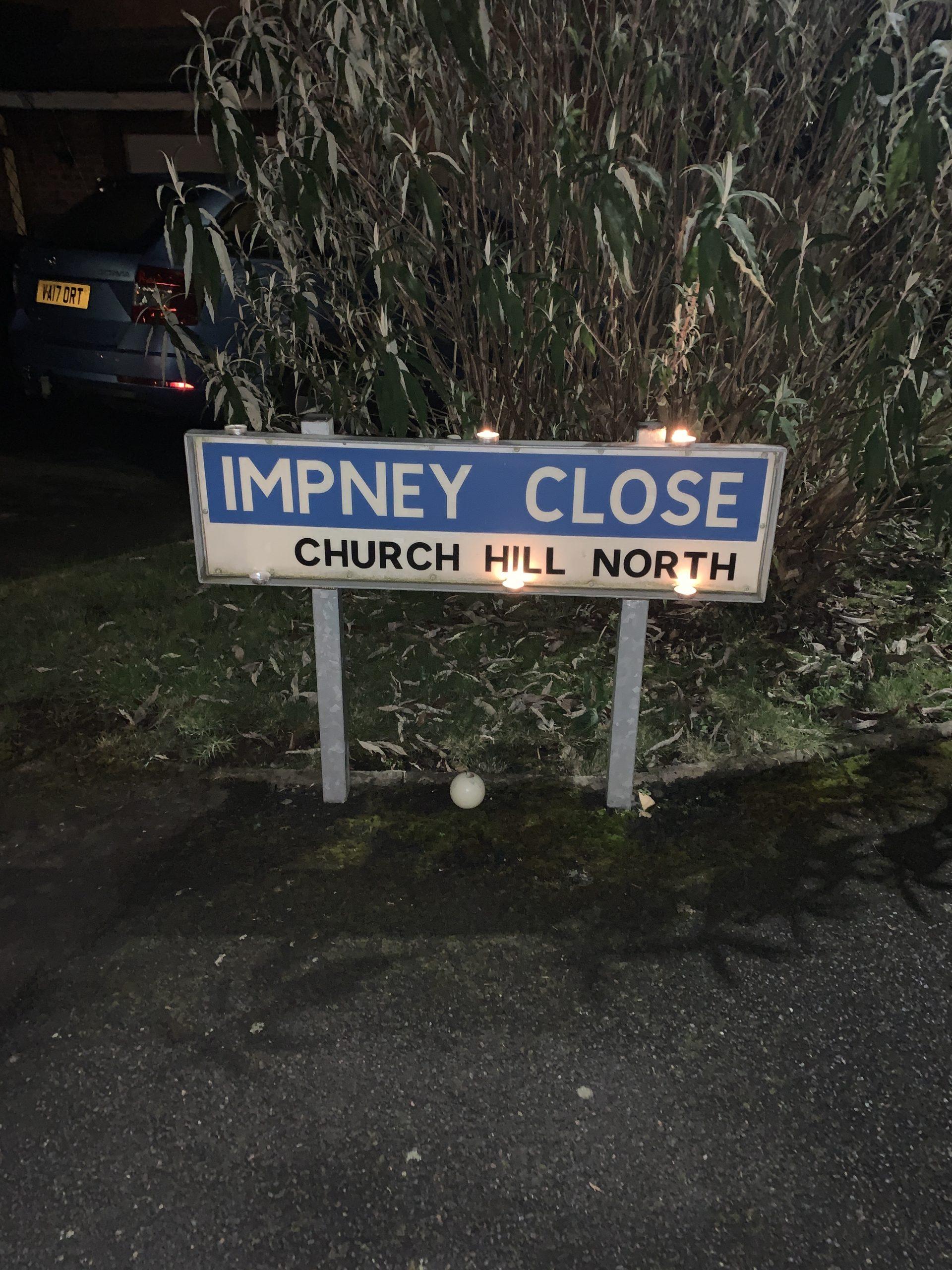 Impney Close Road Sign